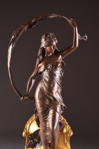 Le char de l'aurore -  Louis Auguste Moreau circa 1880 - Sculpture Style
