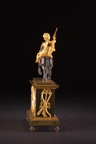 Directoire - Cupid on horseback, a Directoire ormolu mantel clock