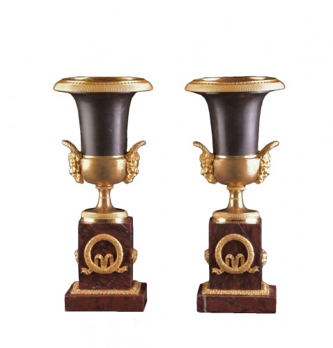 Pair of French Empire Medici vases