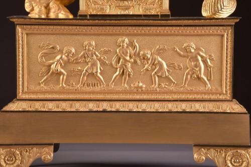 Restauration - Charles X - A large French gilt bronze pendule, Fortuna Goddess with the Cornucopia