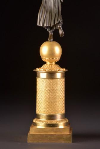 Antiquités - Exceptionally fine pair French figural bronze Empire candelabra