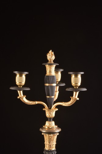 19th century - A LARGE PAIR FRENCH CHARLES X BRONZE CANDELABRA