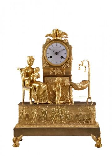 French  Empire clock signed Jean Simon Deverberie á Paris