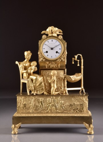 French  Empire clock signed Jean Simon Deverberie á Paris - Horology Style Empire