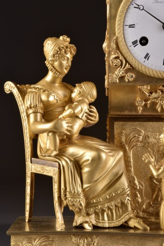 French  Empire clock signed Jean Simon Deverberie á Paris - Empire