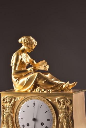 """Horology  - A France Empire """"la Lectura"""" pendule"""