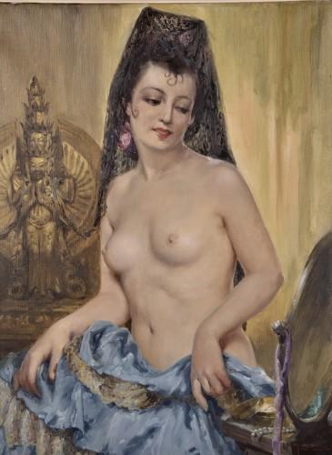 Charles Van Roose (1883-1960), Spanish beauty - Paintings & Drawings Style Art nouveau