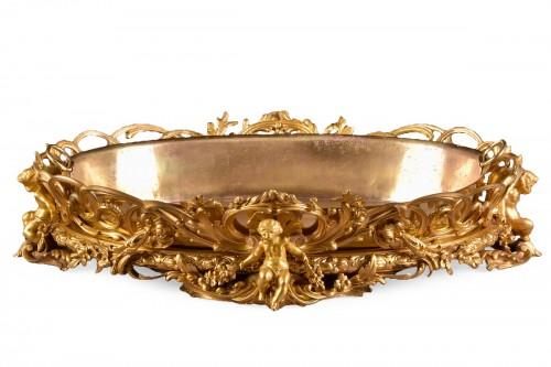 Large gilt bronze Jardinière - Henri Picard (1840-1890)