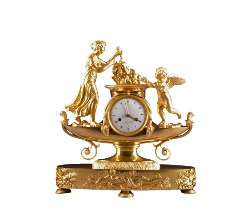 "French Empire Clock, ""boat Of Venus And cupid"", circa 1810"