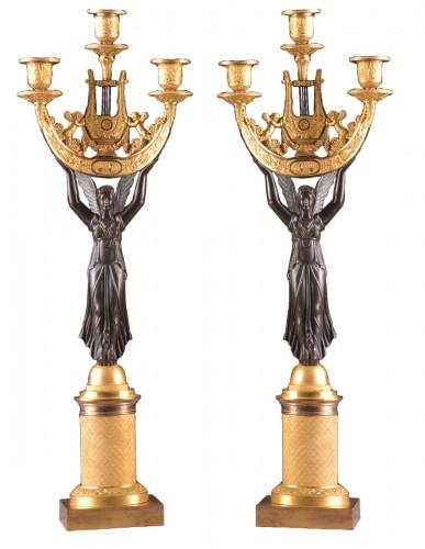 Pair of Empire Candelabra circa 1810