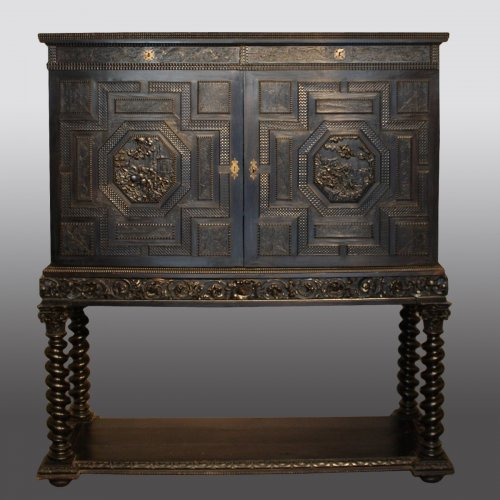 French ebony and ebonized wood Cabinet, Paris, first half 17th century