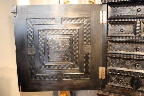 17th century - French ebony and ebonized wood Cabinet, Paris, first half 17th century