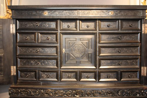 Louis XIII - French ebony and ebonized wood Cabinet, Paris, first half 17th century