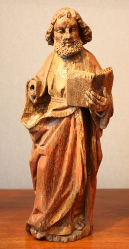Saint Paul in oak with remains of polychromy, Flanders 15th century