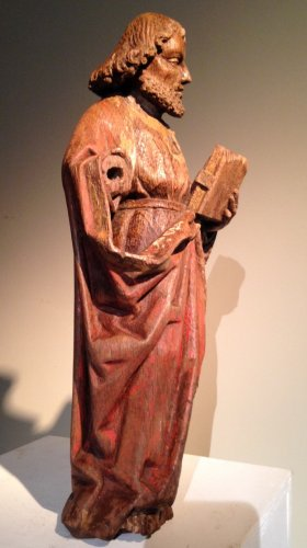 Sculpture  - Saint Paul in oak with remains of polychromy, Flanders 15th century