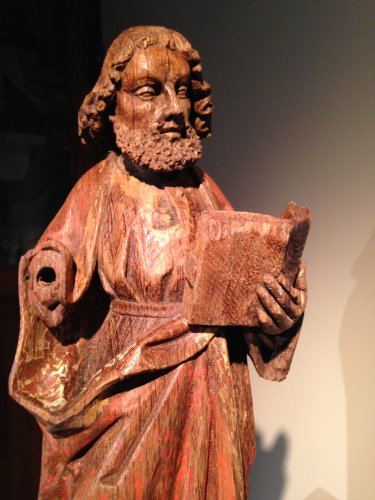 Saint Paul in oak with remains of polychromy, Flanders 15th century -