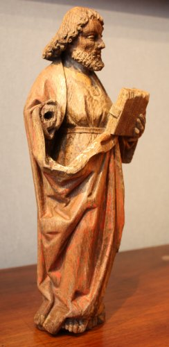 16th century - Saint Paul in oak with remains of polychromy, Flanders 15th century