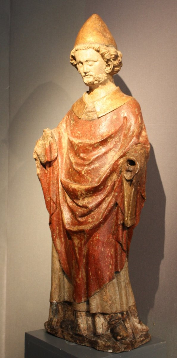 A Carved Stone Statue Of St Peter Lorraine France Late