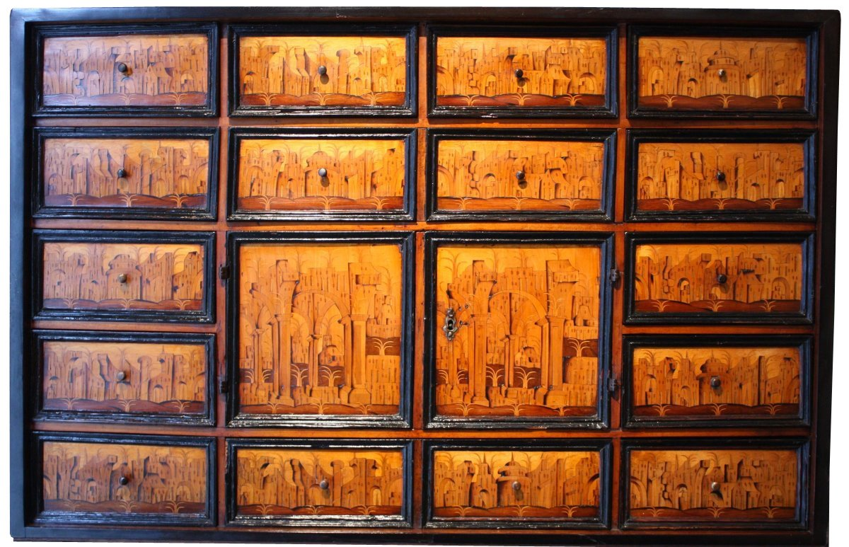 South German Marquetry Cabinet Augsburg Early 17th
