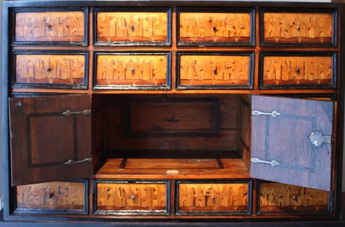 south german marquetry cabinet augsburg early 17th century. Black Bedroom Furniture Sets. Home Design Ideas