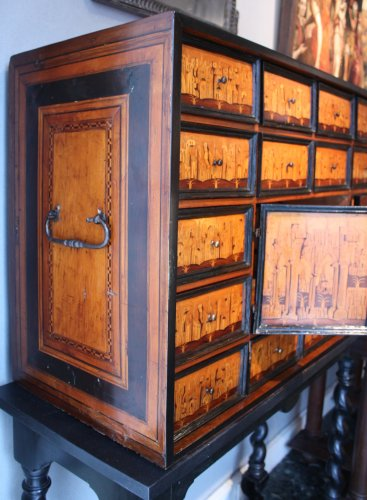 Furniture  - South German marquetry Cabinet, Augsburg early 17th century