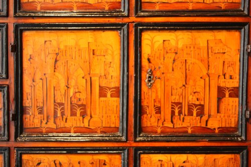South German marquetry Cabinet, Augsburg early 17th century -