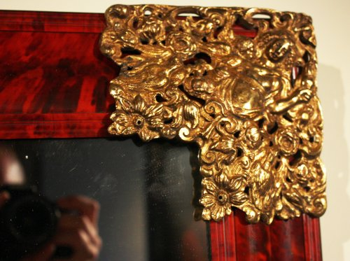 A 17th century Antwerpen tortoiseshell mirror -