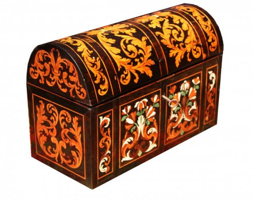 Marquetry casket, attributed to Pierre Gole, 17th centu