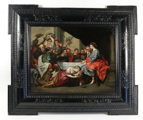 Flemish school, 17th century, follower of P. P. Rubens, Oil on copper