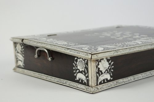 Decorative Objects  - An Anglo-Indian mid 18th century rosewood inlaid writing slope