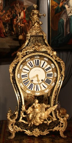An 18th century Louis XV ormolu mounted Boulle marquetry bracket clock  -
