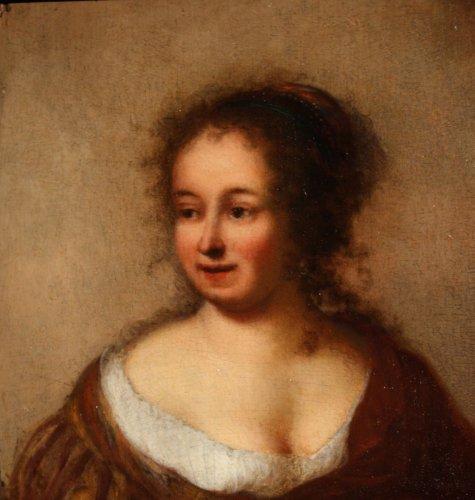 Portrait of a noble lady, circle of Rembrandt, 17th c. Dutch school