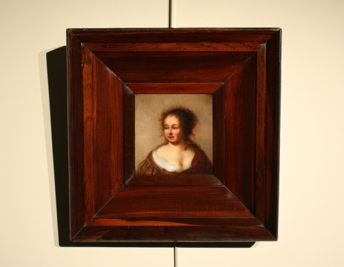 Portrait of a noble lady 17th c. Dutch school - Paintings & Drawings Style