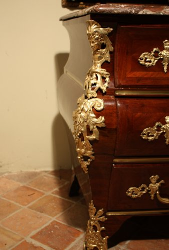 Furniture  - A Regence  18th c. ormolu-mounted amaranth commode
