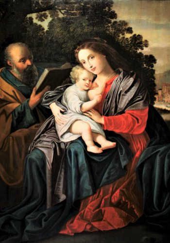 The Holy Family, an Antwerp school of the 17th century, a follower of Van Balen