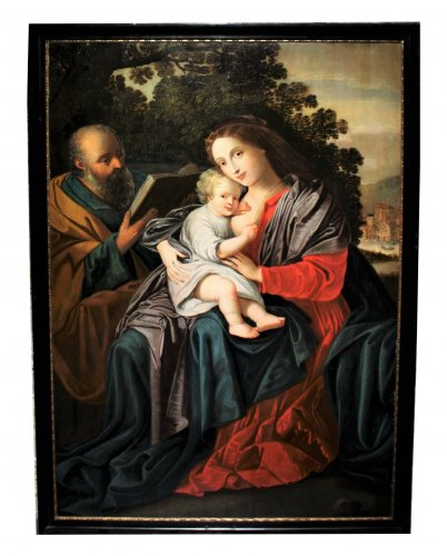 The Holy Family, an Antwerp school of the 17th century, a follower of Van Balen - Paintings & Drawings Style
