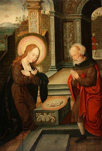Birth of Jesus, circle of Pieter Coecke van Aelst, 16th c. Flemish school