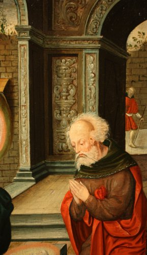 Birth of Jesus, circle of Pieter Coecke van Aelst, 16th c. Flemish school - Paintings & Drawings Style