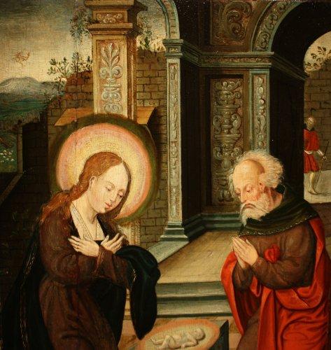 Paintings & Drawings  - Birth of Jesus, circle of Pieter Coecke van Aelst, 16th c. Flemish school