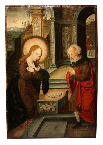 - Birth of Jesus, circle of Pieter Coecke van Aelst, 16th c. Flemish school