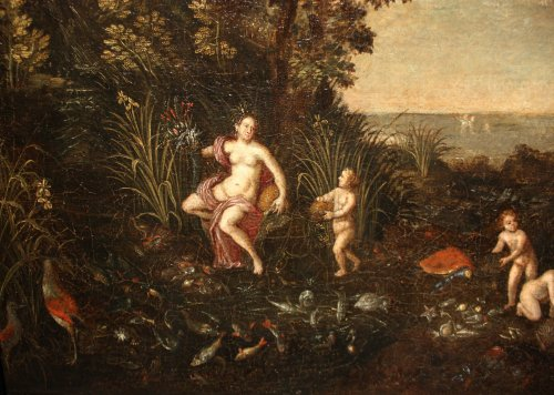Allegory of water - Flemish school of the 17th, follower of Jan Brueghel -