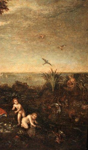 - Allegory of water - Flemish school of the 17th, follower of Jan Brueghel