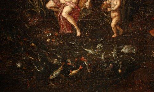 Antiquités - Allegory of water - Flemish school of the 17th, follower of Jan Brueghel