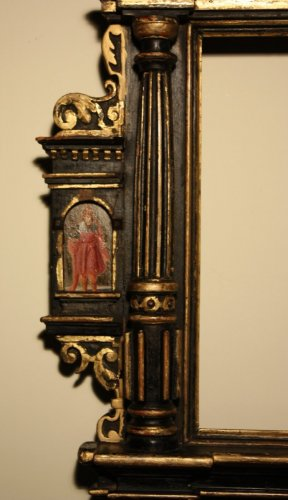 Paintings & Drawings  - A German 17th c. ebonized and gilt wood frame