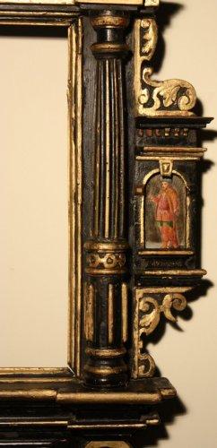 17th century - A German 17th c. ebonized and gilt wood frame