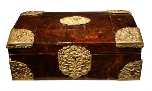 17th century Tortoiseshell case, Antwerp, Louis XIV period