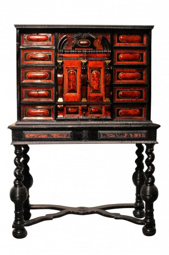 An Antwerpen 17th century tortoiseshell and ebony cabinet