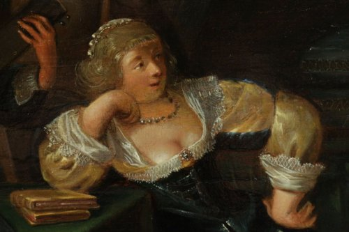 17th century - Merry company, 17th c. Flemish school, oil on panel