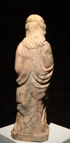 Sculpture  - A 14th century Cologne marble carved figure of a female saint