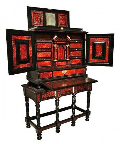 A 17th c Antwerp tortoiseshell cabinet